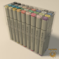 3d model copic markers