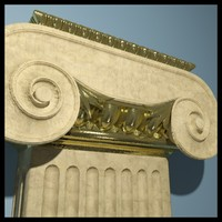 3d pilaster ionic