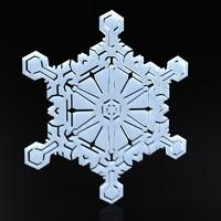 3d model snowflake christmas symbols