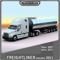 2011 freightliner cascadia 3d model