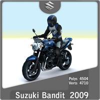 3d 2009 suzuki bandit