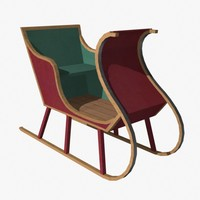 3d model of sleigh