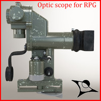 3d optical sight rpg model
