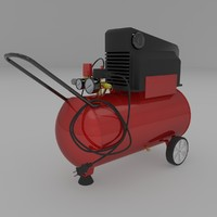 oilless air compressor 3d 3ds