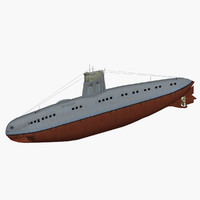 german coastal submarine 3d model