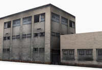 Industrial Building 2 Low Poly