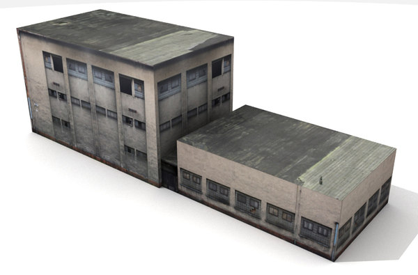 building industrial 3d max - Industrial Building 2 Low Poly... by yusuf joher taherali