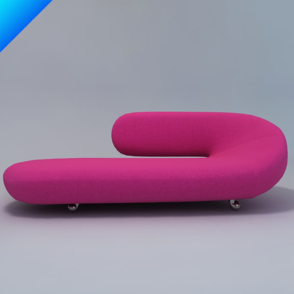 Harcourt cleopatra lounge sofa 3d 3ds for Chaise cleopatra