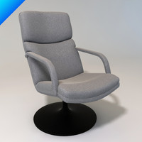 f154 156 chair artifort 3d 3ds