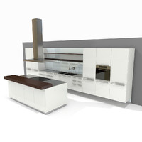kitchen bulthaup b3 3d 3ds