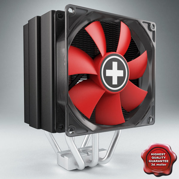 cpu cooler xilence r2 3d model - CPU Cooler Xilence R2... by 3d_molier