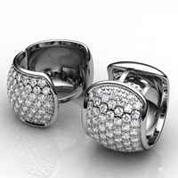 Earrings Pave Diamonds