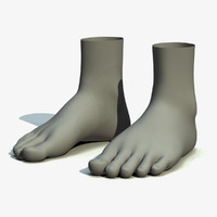 realistic feet 3d max