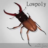 Lucanus Cervus Beetle Lowpoly