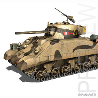 3d m4 sherman iii tank model