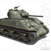 m4a2 sherman - marine 3d model