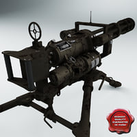 Minigun M134 and Tripod Mount