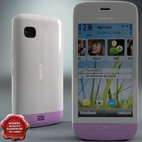 3d model nokia c5-03 white-pink