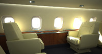 c4d business aircraft seat