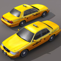 nyc taxi cars city 3ds