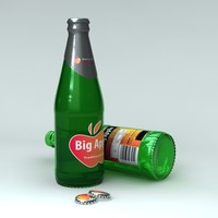 unbranded cider bottle 3d model