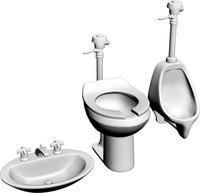 3d toilet sink model