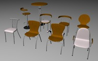 c4d group chairs table