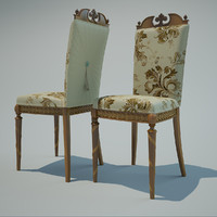 3d chair interior modelled model