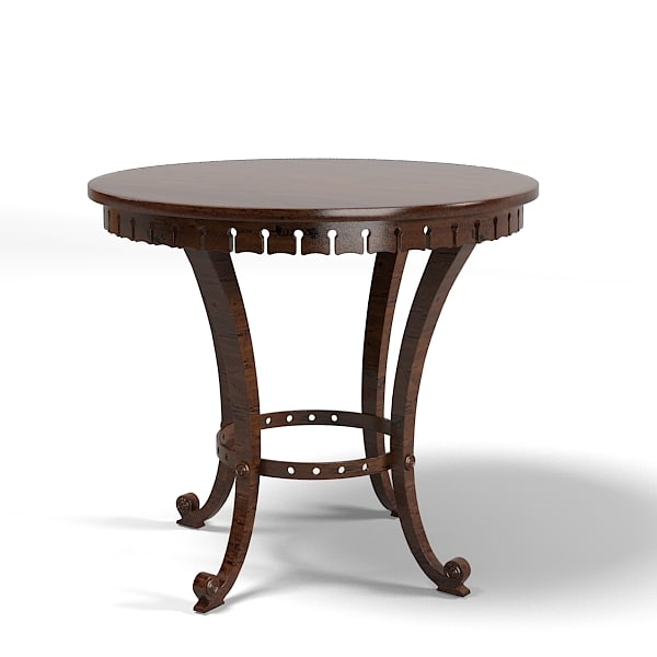 coffee side lamp table round cocktail traditional classic country style.jpg