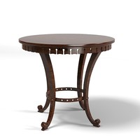 coffee side lamp table round cocktail traditional classic country style