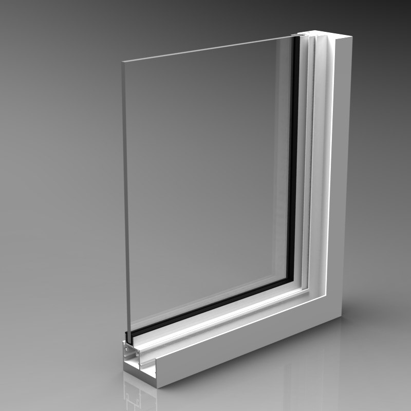Aluminium window corner 3d model for Window 3d model