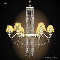 flamina 7580 - 6 classic  chandelier crystal bronze pendant suspension ceiling lamp traditional glamour