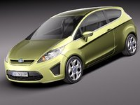 3ds fiesta 3door hatchback city car