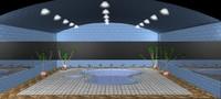 3dsmax indoor swimming pool 1