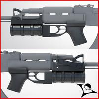 granate launcher 3d max