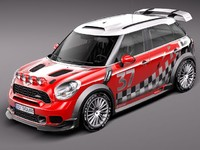 3d model of mini morris wrc rally