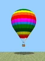 hot air balloon rainbow 3d model