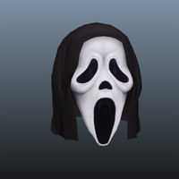 scream mask 3d ma