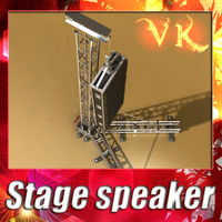 3d model speaker truss -