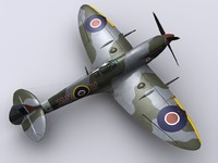 supermarine spitfire fighter mk 3d model