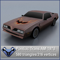 1978 pontiac trans 3d model