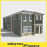 3d model of subdivision house