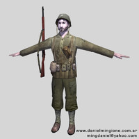 US Soldier (Low Poly)