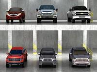 6 pickups 3d model