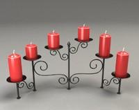candelabra materials 3d model