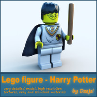 lego character - harry potter obj