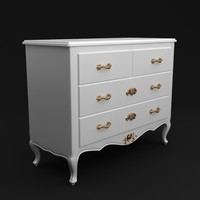 dresser antique 3d model