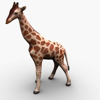 3d ready giraffe model