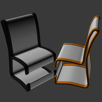 3d model futuristic chair