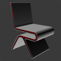 3d futuristic chair model